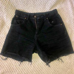 Wrangler high waisted denim shorts